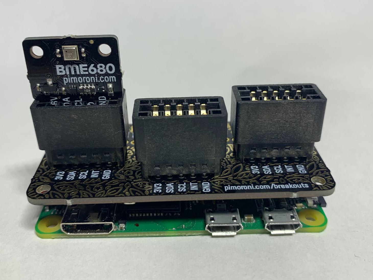 空気を読む BME680とRaspberrypi Zero W + Stack drive